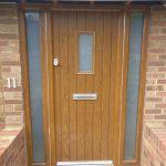 An image of a brown front door