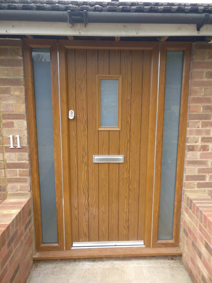An image of a brown front door
