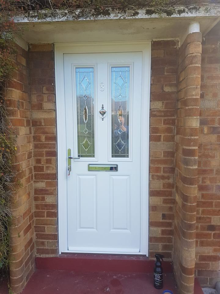 An image of a composite front door.