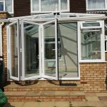 Conservatory with bi-folds